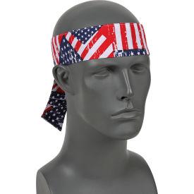 Ergodyne® Chill-Its® 6700 Evaporative Cooling Bandana - Tie, Stars/Stripes, One Size
