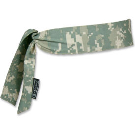Ergodyne® Chill-Its® 6700 Evaporative Cooling Bandana - Tie, Camo, One Size - Pkg Qty 24