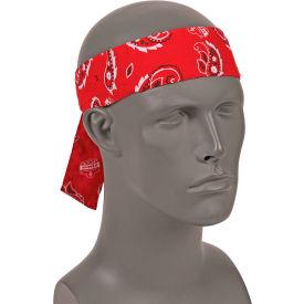 Ergodyne® Chill-Its® 6700 Evaporative Cooling Bandana - Tie, Red Western, One Size