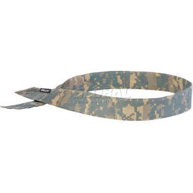 Ergodyne® Chill-Its® 6705 Evaporative Cooling Bandana, H & L, Camo, One Size - Pkg Qty 24