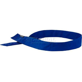 Ergodyne® Chill-Its® 6705 Evaporative Cooling Bandana, H & L, Solid Blue, One Size - Pkg Qty 24