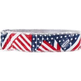 Ergodyne® Chill-Its® 6605 High-Performance Headband, Stars/Stripes, One Size - Pkg Qty 6