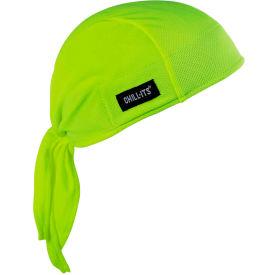 Ergodyne® Chill-Its® 6615 High-Performance Dew Rag, Lime, One Size - Pkg Qty 6