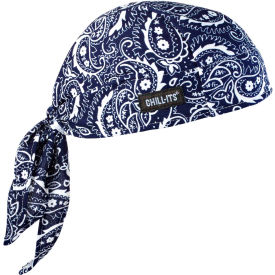 Ergodyne® Chill-Its® 6615 High-Performance Dew Rag, Navy Western, One Size - Pkg Qty 6