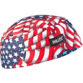 Ergodyne® Chill-Its® 6630 High-Performance Cap, Stars/Stripes, One Size - Pkg Qty 6