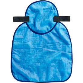 Ergodyne® Chill-Its® 6717CT Evap. Hard Hat Neck Shade w/ Built-In Cooling Towel, Blue - Pkg Qty 6