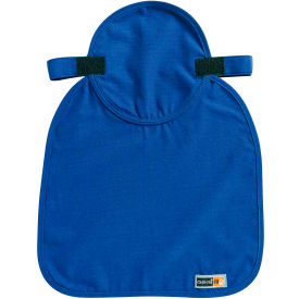 Ergodyne® Chill-Its® 6717FR Evaporative Cooling Hard Hat Pad with Neck Shade, Blue - Pkg Qty 6