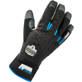Ergodyne® ProFlex® 817WP Reinforced Thermal Waterproof Utility Gloves, Black, Small