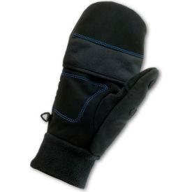 Ergodyne® ProFlex® 816 Thermal Flip-Top Gloves, Black, Large