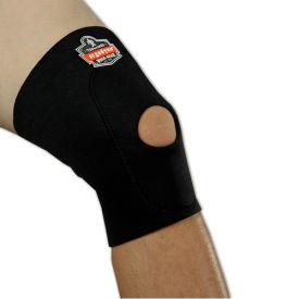 Ergodyne® 615 Knee Sleeve; Open Patella/Anterior Pad, Black, Large