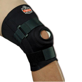 Ergodyne® 620 Knee Sleeve; Open Patella/Spiral Stays, Black, Large