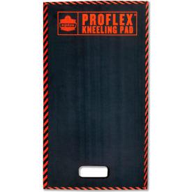 "ProFlex® 385 Kneeling Pad w/Warning Stripes, Black, 16"" x 28"""