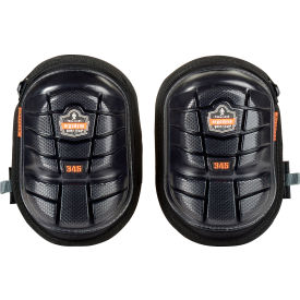 Ergodyne® ProFlex® 345 Injected Gel Knee Pads, Long Cap, Black, 18445