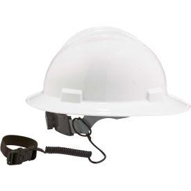 "Ergodyne® Squids® 3157 Coil Hard Hat Lanyard with Buckle, Black, 18"" - Pkg Qty 6"