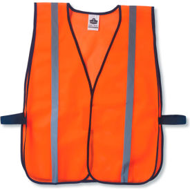 Ergodyne® GloWear® 8020HL Non-Certified Standard Vest, Orange, One Size - Pkg Qty 24