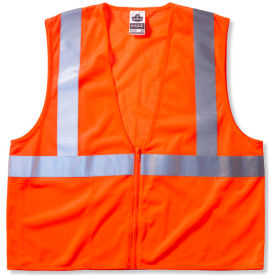 Ergodyne® GloWear® 8210Z Class 2 Economy Vest, Orange, 4XL/5XL