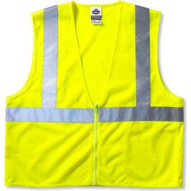 Ergodyne® GloWear® 8210Z Class 2 Economy Vest, Lime, S/M