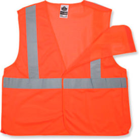 Ergodyne® GloWear® 8215BA Class 2 Econo Breakaway Vest, Orange, 4XL/5XL