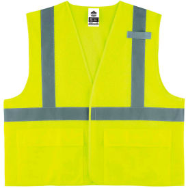 Ergodyne® GloWear® 8220HL Class 2 Standard Vest, Lime, S/M