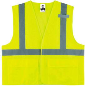 Ergodyne® GloWear® 8220HL Class 2 Standard Vest, Lime, 4XL/5XL