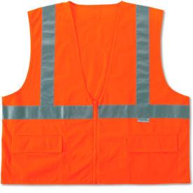 Ergodyne® GloWear® 8225Z Class 2 Standard Vest, Orange, S/M