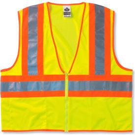 Ergodyne® GloWear® 8229Z Class 2 Economy Two-Tone Vest, Lime, S/M