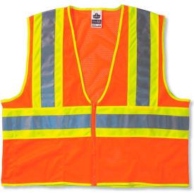 Ergodyne® GloWear® 8229Z Class 2 Economy Two-Tone Vest, Orange, L/XL