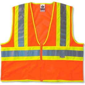 Ergodyne® GloWear® 8230Z Class 2 Two-Tone Vest, Orange, 2XL/3XL