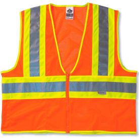 Ergodyne® GloWear® 8230Z Class 2 Two-Tone Vest, Orange, 4XL/5XL