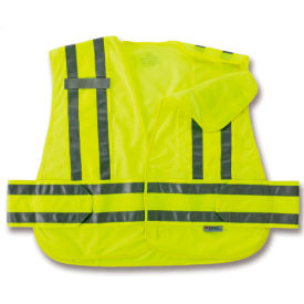 Ergodyne® GloWear® 8244PSV Expandable Public Safety Vest, Orange, M/L