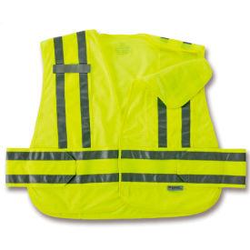 Ergodyne® GloWear® 8244PSV Expandable Public Safety Vest, Lime, XL/2XL