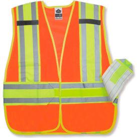 Ergodyne® GloWear® 8240HL Class 2 Two-Tone Expandable Vest, Orange, M/L