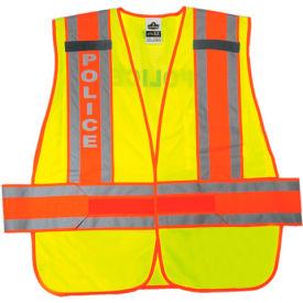 Ergodyne® GloWear® 8240HL Class 2 Two-Tone Expandable Vest, Lime, XL/2XL
