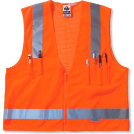 Ergodyne® GloWear® 8250Z Class 2 Surveyors Vest, Orange, L/XL