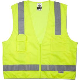 Ergodyne® GloWear® 8250Z Class 2 Surveyors Vest, Lime, 2XL/3XL