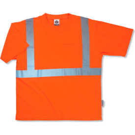 Ergodyne® GloWear® 8289 Class 2 Economy T-Shirt, Orange, 5XL