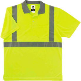 Ergodyne® GloWear® 8295 Class 2 Polo Shirt, Lime, L