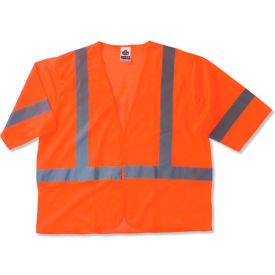 Ergodyne® GloWear® 8310HL Class 3 Economy Vest, Orange, S/M