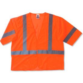Ergodyne® GloWear® 8310HL Class 3 Economy Vest, Orange, 4XL/5XL