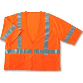 Ergodyne® GloWear® 8320Z Class 3 Standard Vest, Orange, S/M