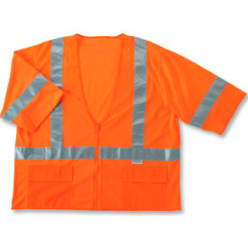Ergodyne® GloWear® 8320Z Class 3 Standard Vest, Orange, 2XL/3XL