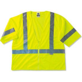 Ergodyne® GloWear® 8320Z Class 3 Standard Vest, Lime, 2XL/3XL