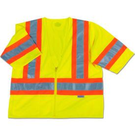 Ergodyne® GloWear® 8330Z Class 3 Two-Tone Vest, Lime, L/XL