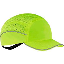 Ergodyne Skullerz 8955 Lightweight Bump Cap, Short Brim, Lime