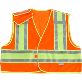 Ergodyne GloWear 8245PSV Public Safety Vest, Orange, 6XL/7XL by