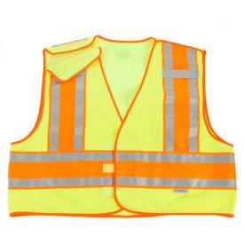 Ergodyne® GloWear® 8245PSV Public Safety Vest, Lime, 4XL/5XL