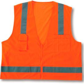 Ergodyne® GloWear® 8249Z Class 2 Economy Surveyors Vest, Orange, 2XL/3XL
