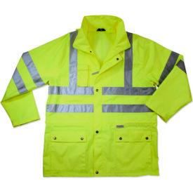 Ergodyne® GloWear® 8365 Class 3 Rain Jacket, Lime, 2XL