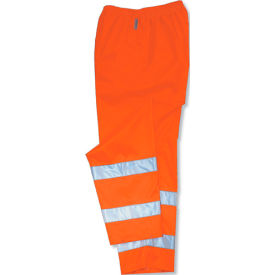 Ergodyne® GloWear® 8915 Class E Rain Pants, Orange, 2XL