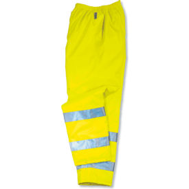 Ergodyne® GloWear® 8915 Class E Rain Pants, Lime, 4XL